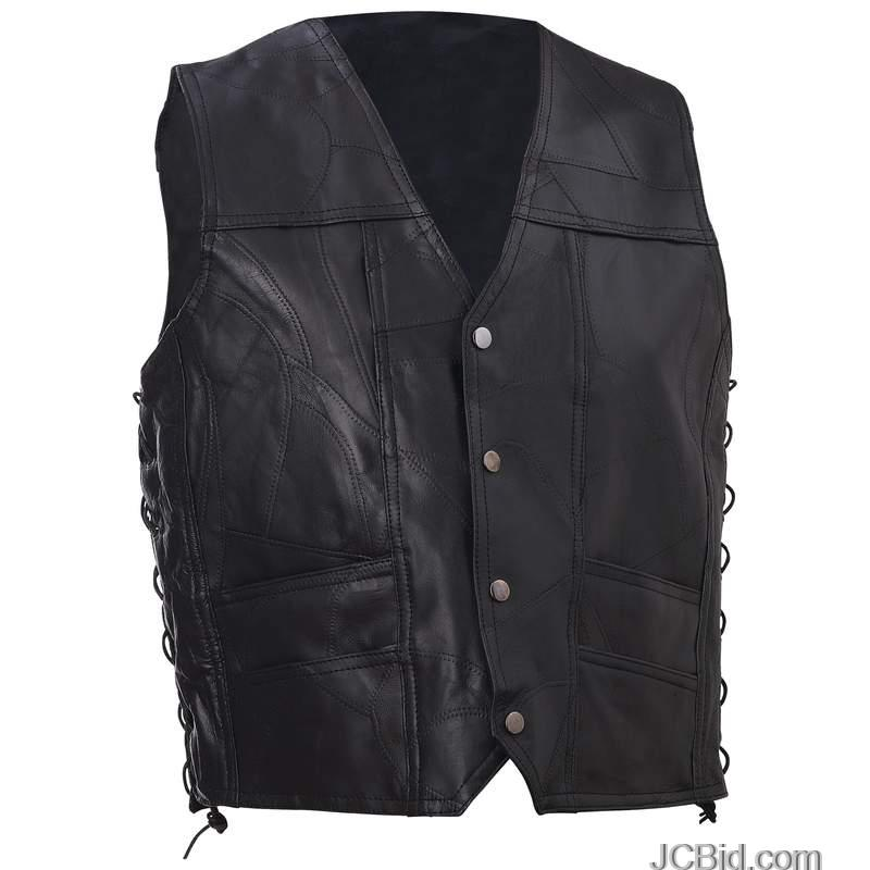 JCBid.com LEATHER-VEST-W-TEXAS-PATCH-3X