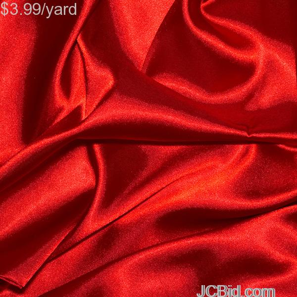 JCBid.com 3-Yards-of-Satin-Fabric-60-W-red-Just-379-Yard