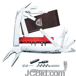 JCBid.com Spirit-Plus-Stainless-Steel-105mm-Leather-Sheath-VICTORINOX-Model-53802