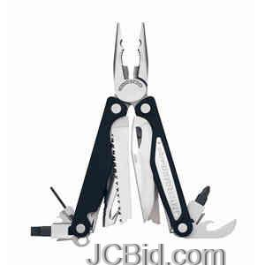 JCBid.com Charge-ALX-Black-Aluminum-Handle-Leather-Sheath-LEATHERMAN-Model-830674