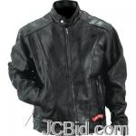 JCBid.com online auction Leather-motorcycle-jacket-3x-diamond-plate-rock-design-genuine-buffalo-leather-motorcycle-jacket