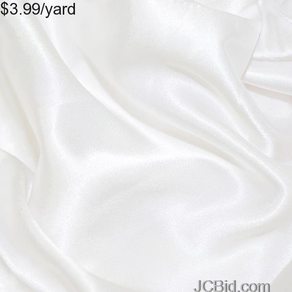 JCBid.com 3-Yards-of-Satin-Fabric-60-W-White-Just-397Yard