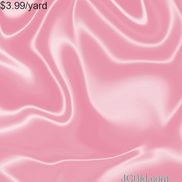 JCBid.com 3-Yards-of-Satin-Fabric-60-W-Pink-Just-379-Yard