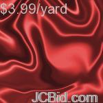 JCBid.com 3-Yards-of-Satin-Fabric-60-W-Wine-Just-379-Yard