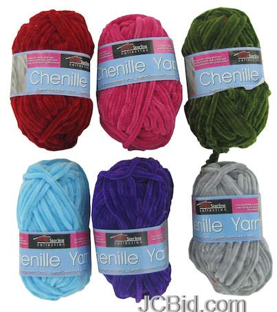 JCBid.com 12-Skeins-Chenille-Knitting-Yarn-NEW-Plush-Velvetty-Free-Shipping