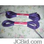 JCBid.com online auction Lot-of-3-hanks-of-needloft-10-yards-craft-cord-solid-purple