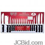 JCBid.com 19PC-DIAMOND-CUT-CUTLERY-SET