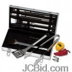 JCBid.com online auction 22pc-stainless-steel-bbq-set