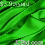 JCBid.com 15-Yards-of-Satin-Fabric-65quot-W-Apple-Green-Just-299-Yard