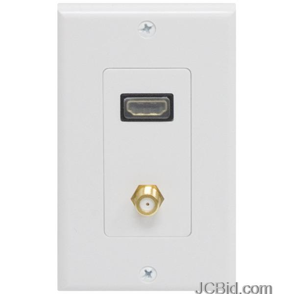 ge 87637 single hdmi coaxial wall plate