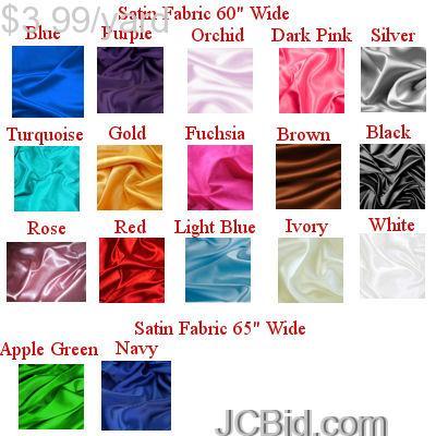 JCBid.com Lot-of-90-Yards-of-Bridal-Satin-Fabric-60quot-W