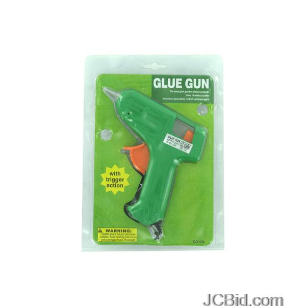 JCBid.com Trigger-Action-Hot-Glue-Gun-With-Glue-Sticks-display-Case-of-72-pieces