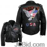 JCBid.com online auction Pebble-leather-moto-jacket-m