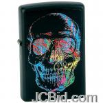 JCBid.com online auction Skull-zippo-lighter-blk-matte