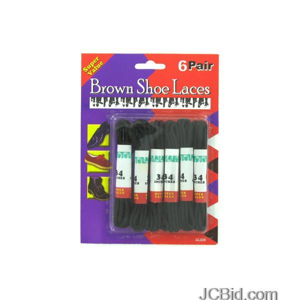 JCBid.com Brown-Shoe-Laces-display-Case-of-108-pieces