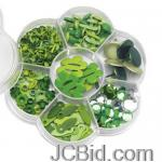 JCBid.com 200-Pc-Monochromatic-Green-Embellishment-Box