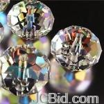 JCBid.com online auction Crystal-faceted-gems-bead-clear-6-mm-25-pc