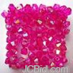 JCBid.com online auction Austria-cyrstal-beads-4-mm-magenta-25-pc
