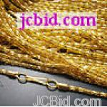JCBid.com online auction Gold-plated-snake-chain-necklace-165ampampquot-with-clasp-3pc