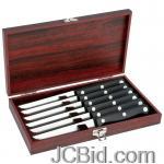 JCBid.com online auction 6pc-steak-knife-set-wood-box
