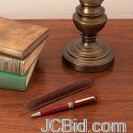 JCBid.com online auction Wood-pen-in-vlvt-pouch