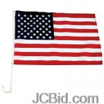 JCBid.com 12x18-USA-FLAG-ON-18-CAR-POLE