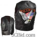 JCBid.com online auction Grain-leather-biker-vest-m
