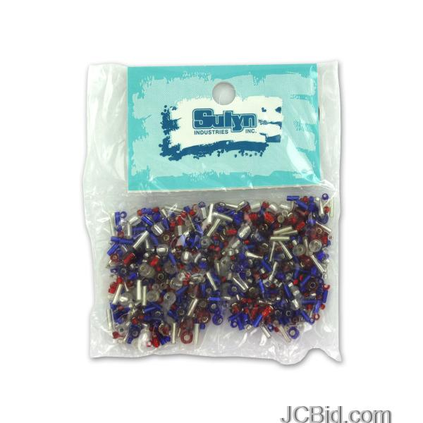 JCBid.com Red-White-and-Blue-E-Bead-Mix-display-Case-of-228-pieces