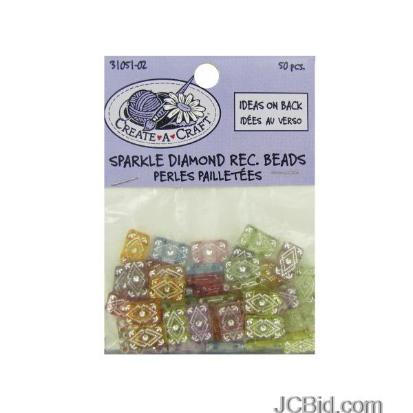 JCBid.com Sparkle-Diamond-Rectangle-Beads-display-Case-of-204-pieces