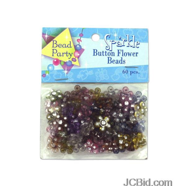 JCBid.com Sparkle-Button-Flower-Beads-display-Case-of-180-pieces