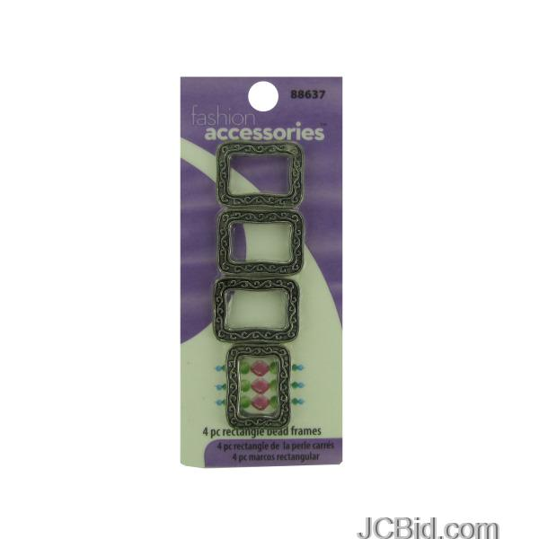 JCBid.com Metal-Rectangle-Bead-Frames-display-Case-of-204-pieces