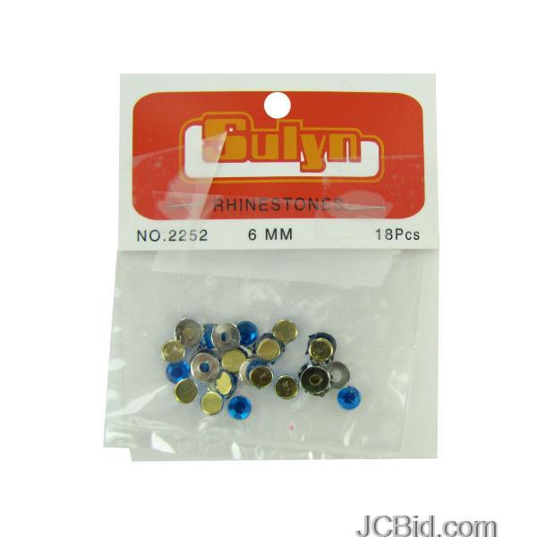 JCBid.com Blue-Rhinestones-with-Mounts-display-Case-of-204-pieces