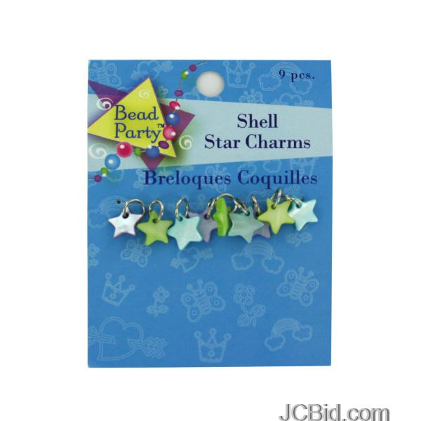 JCBid.com Pastel-Shell-Star-Charms-display-Case-of-228-pieces
