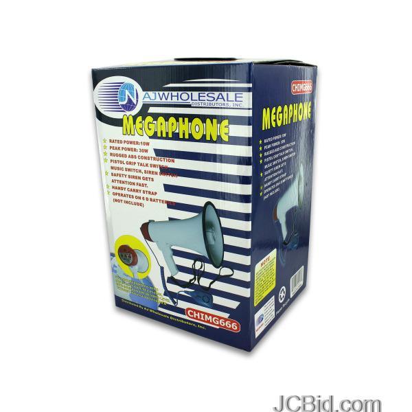 JCBid.com Megaphone-with-Built-In-Siren-display-Case-of-12-pieces