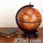 JCBid.com online auction 330mm-tabletop-wood-bar-globe