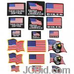JCBid.com online auction 18pc-embroidered-flag-patch-st