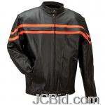 JCBid.com online auction Orngblk-solid-leather-jkt-l