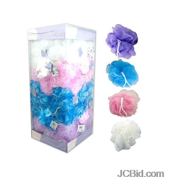 JCBid.com Nylon-Mesh-Body-Sponge-Display-display-Case-of-144-pieces