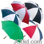 JCBid.com online auction 48-redwhite-umbrella