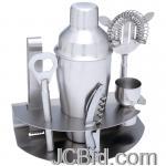 JCBid.com online auction 7pc-stainless-steel-bar-set