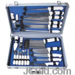 JCBid.com 22PC-PROF-CUTLERY-SET-IN-CASE