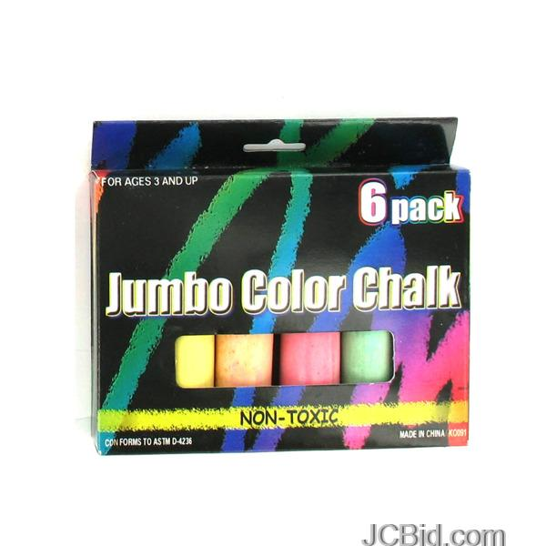 JCBid.com Multi-Color-Jumbo-Chalk-Set-display-Case-of-84-pieces