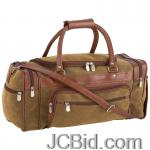 JCBid.com online auction 23brown-faux-leather-tote-bag