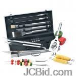 JCBid.com online auction 18-pc-stnlss-stl-bbq-set