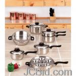 JCBid.com online auction 17pc-waterless-cookware-set