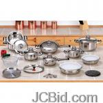 JCBid.com online auction 28pc-ss-cookware-set