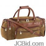JCBid.com online auction 23brown-faux-leather-tote-bag