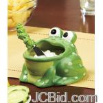 JCBid.com online auction Frog-dip-bowl-ampamp-spreader-set