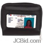 JCBid.com online auction Accordian-wallet-lambskin-lthr