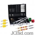 JCBid.com online auction 30pc-ss-bbq-tool-st-in-alum-cs